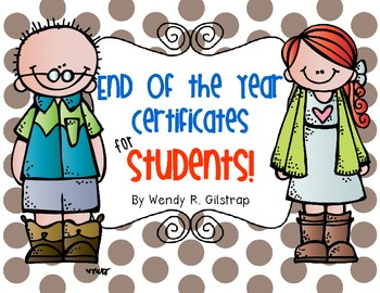 End of the Year Certificates for Students