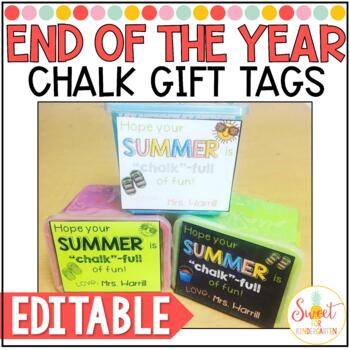 Editable End of the Year Chalk Gift Tags