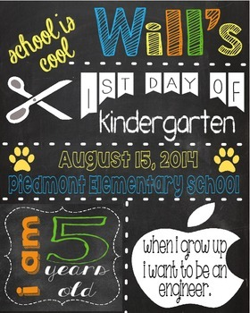 End of the Year Chalkboard Posters
