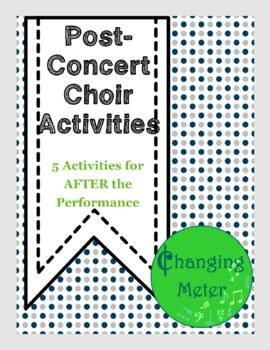 End of the Year Choir Activities