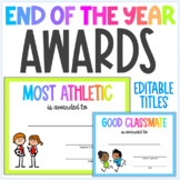End of the Year Class Awards - 30 Designs - Class Superlatives - Editable Titles