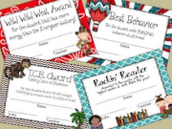 End of the Year Activities:  Class Awards Set #1