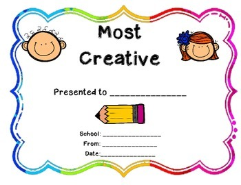 End of the Year Class Awards Freebie