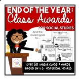 Distant Learning: End of the Year Class Awards for Social Studies
