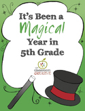 End of the Year Memory Book: 5th Grade {Magic Theme}