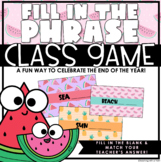 End of the Year | Class Game