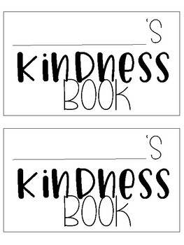 End of the Year: Class Kindness Book