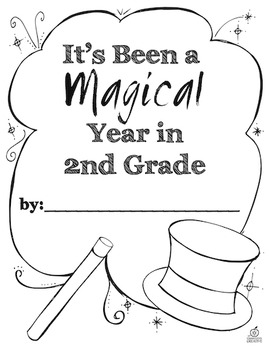 End of the Year Memory Book: 2nd Grade {Magic Theme}