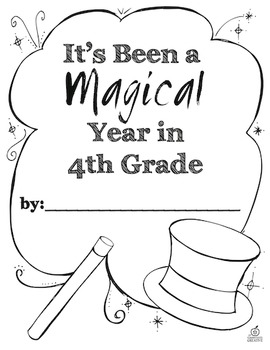 End of the Year Memory Book: 4th Grade {Magic Theme}