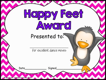 End of the Year Class Superlatives Awards Editable Chevron Theme