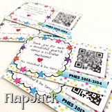 End of the Year Class Video QR Code Gift Cards Template FREEBIE