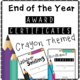 End of the Year Classroom Awards Crayon Themed