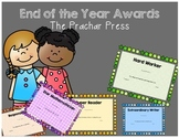 End of the Year  Classroom Certificates