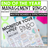 End of the Year Classroom Management Bingo
