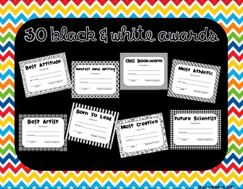 End of the Year Classroom Superlative Awards - Editable - Color/B&W