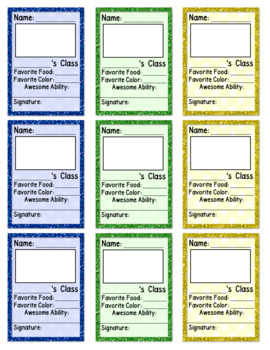 End of the Year Classroom Trading Cards