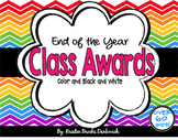End of the Year Classroom Student AWARDS