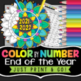 End of the Year - Color by Number - Great Last Day of School Activity