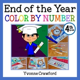 End of the Year Color by Number (fourth grade)  Color by Addition & Subtraction