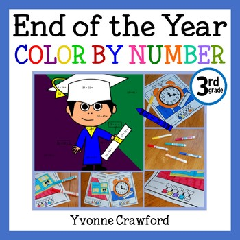 End of the Year Color by Number (third grade)  Color by Addition & Subtraction