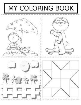 End of the Year Coloring Book (Pre-K, Elem)