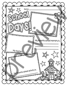 End of the Year Coloring Pages & Printables - Classroom Doodles | 350x271