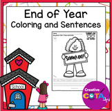 No Prep School's Out End of the Year Coloring and Sentence Worksheets
