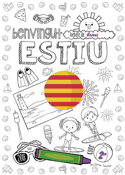 End of the Year Colouring Page