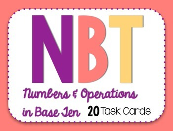 End of the Year Math Task Cards