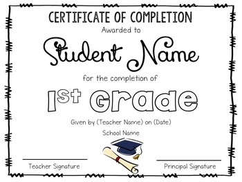 End of the Year Completion Award