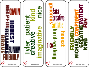 End of the Year Compliment Bookmarks
