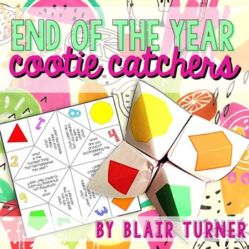 End of the Year Cootie Catcher