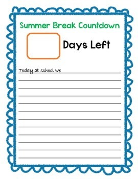 End of the Year Countdown Freebie!
