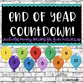 End of the Year Countdown Activities