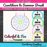 End of the Year Activities: Countdown Bulletin Board and Shapebook Set