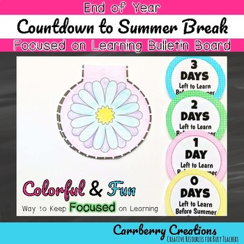 End of the Year Countdown Bulletin Board and Shapebook Set