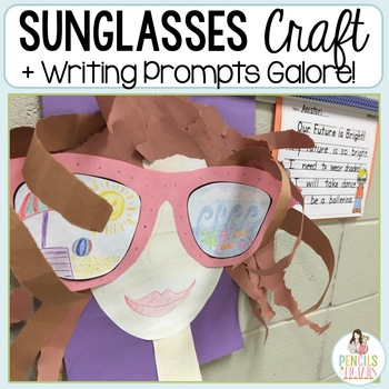 Back to School Craftivity: Summer Sunglasses or Bright Future Craft & Prompts