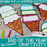 End of the Year Craftivity | End of the Year Writing | May Bulletin Board |Scoop