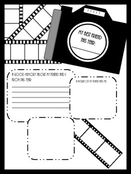 End of the Year, Creative Writing, Student Memory Booklet