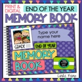 End of the Year DIGITAL Memory Book on Google Slides for D
