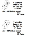 End of the Year Dice Games