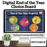 End of the Year Digital Memory Projects Choice Board
