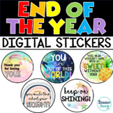 End of the Year Digital Stickers for Google Slides and SeeSaw