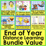 End of the Year Distance Learning Bundle Value