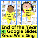 End of the Year Distance Learning Google Slides