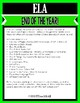 End of the Year Activities for ELA