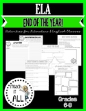 End of the Year ELA Activities