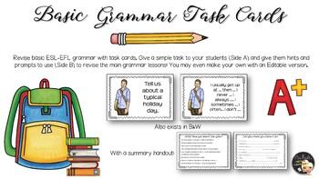 Fast Finishers - EFL Grammar Task Cards