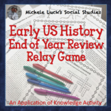 End of the Year Early US History Puzzles, Games, and Relay Activity