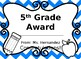 End of the Year Editable Award